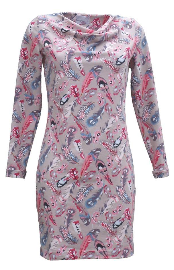 Schnittmuster Kleid mit Waserfallausschnitt | Zwischenmass ...