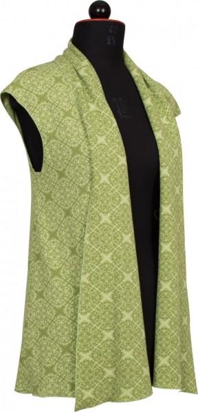 Weste aus grünem Jaquard