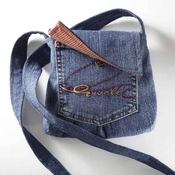 Tasche aus einer alten Jeans