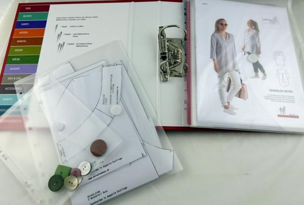 Dokumententaschen zum Aufbewahren von Schnittmustern und Zubehör in einem Sammelordner