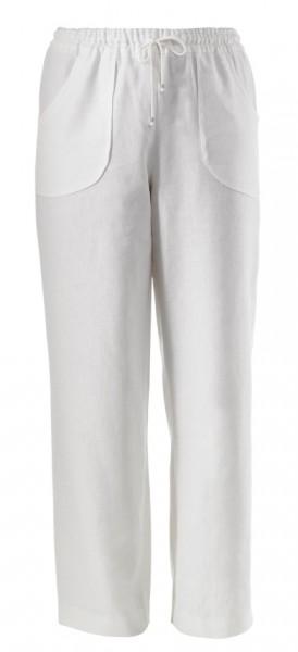 Schlupfhose aus leichter weißer Baumwolle als Sommerhose