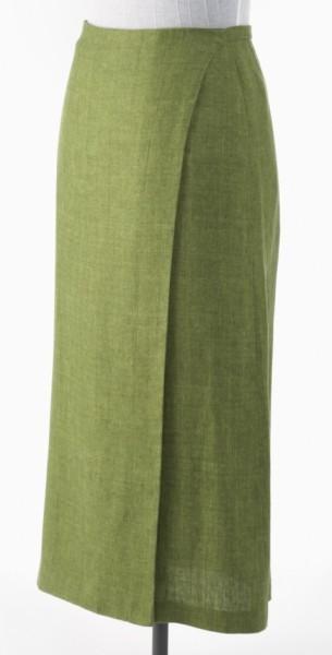 Grüner knöchellanger Wickelrock