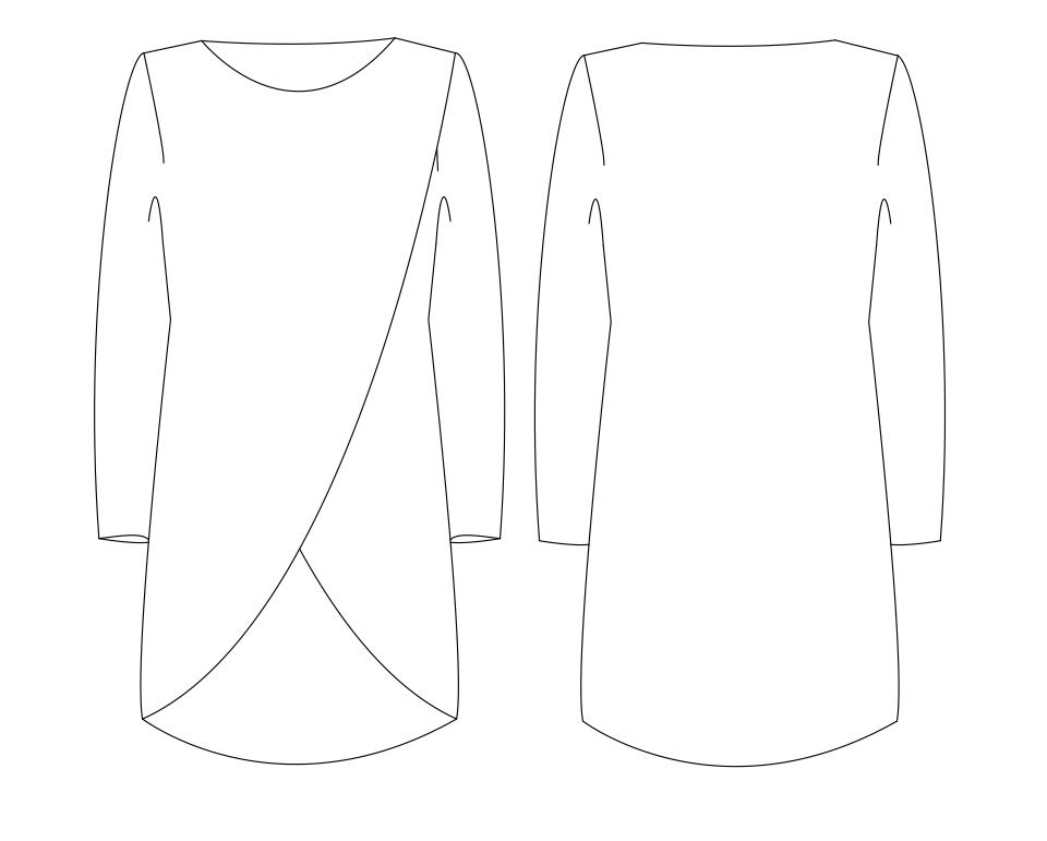 6f0dc49befc61d Schnittmuster für einen Pullover mit doppeltem Vorderteil 601051 ...