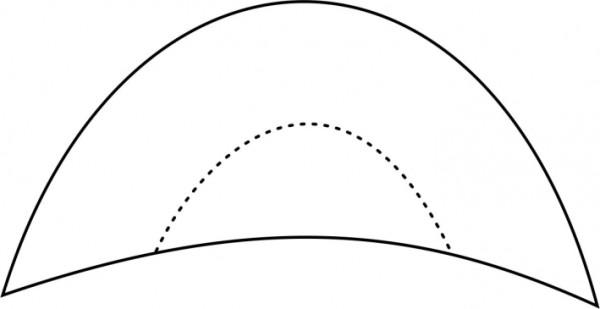 zeichnerische Darstellung Schulterpolster