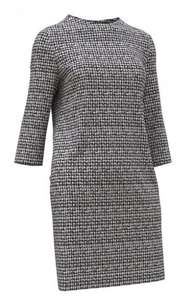 Kleid 650020 aus schwarz-weißem Jaquard