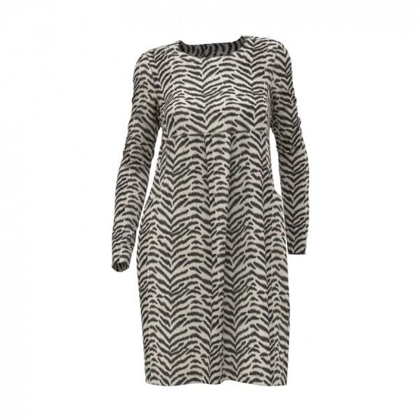 Kleid mit zwei großen Taschen im Vorderteil aus Jerseystoff-Animalprint