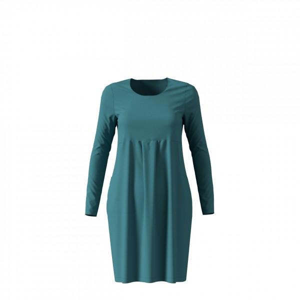 Türkises Kleid 654901 aus Jersey