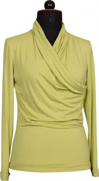Grünes Shirt mit Wickeloptik